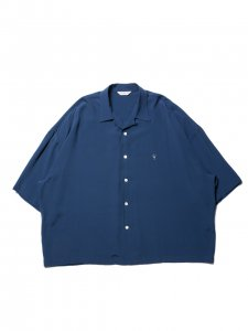 COOTIE (クーティー)  Rayon Open-Neck S/S Shirt (レーヨンオープンネックS/Sシャツ) Navy