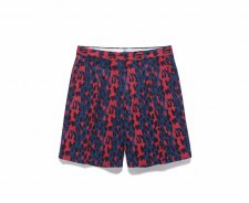 WACKO MARIA (ワコマリア) DICKIES / LEOPARD PLEATED SHORT TROUSERS (TYPE-1)(プリーツショートトラウザー) NAVY