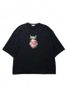 COOTIE (クーティー) Print Oversized S/S Tee (SACRED HEART)(プリントオーバーサイズS/S Tee ) Black