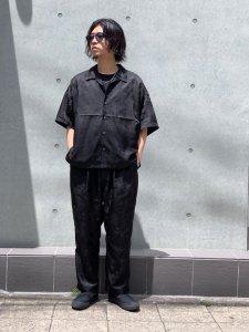 DELUXE (デラックス) DELUXE×EVISEN GARCONS SHIRTS (刺繍オープンカラー半袖シャツ) BLACK
