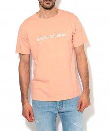 【40%OFF】BANKS (バンクス) LABEL TEE SHIRT (レーベルTシャツ) PEACH