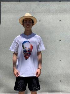 STRANGE TRIP (ストレンジトリップ) HAPPY FACE TEE (プリント半袖TEE) WHITE