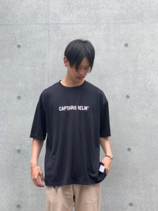 CAPTAINS HELM (キャプテンズヘルム) #TRADEMARK LOGO DRY TEE (S/S TEE) BLACK