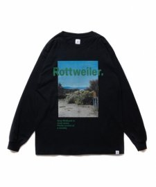 【30%OFF】ROTTWEILER (ロットワイラー) Desert Photo LS Tee (ロングスリーブTee) BLACK