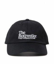 ROTTWEILER (ロットワイラー) Dad Rottweiler Cap (ダッドキャップ) BLACK