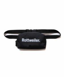 ROTTWEILER (ロットワイラー) Small R.W Waist Bag (ウエストバッグ) BLACK