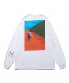 ROTTWEILER (ロットワイラー) 浅野忠信×Rottweiler Bicycle LS Tee(ロングスリーブTee) WHITE
