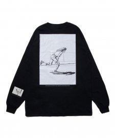 ROTTWEILER (ロットワイラー) 浅野忠信×Rottweiler Skater LS Tee(ロングスリーブTee) BLACK