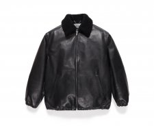 WACKO MARIA (ワコマリア)MOUTON COLLAR LEATHER 50'S JACKET(50'S レザージャケット) BLACK