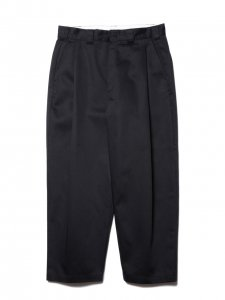 COOTIE (クーティー) T/C Raza 1 Tuck Trousers (ラサワンタックトラウザー) Black