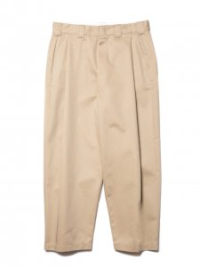 COOTIE (クーティー) T/C Raza 1 Tuck Trousers (ラサワンタックトラウザー) Beige
