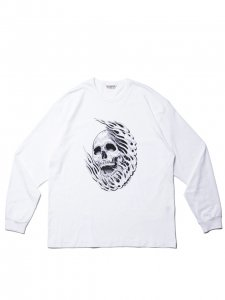 COOTIE (クーティー) Print L/S Tee (MAGICAL DESIGN) (プリント長袖TEE) White