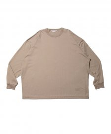 COOTIE (クーティー) Supima Cotton L/S Tee(スーピマコットンL/S Tee) Smoke Beige
