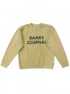 BANKS (バンクス) JOURNAL FLEECE(プリントスウェット) BEIGE