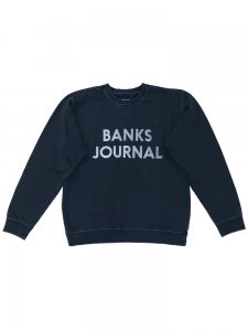 BANKS (バンクス) JOURNAL FLEECE(プリントスウェット) DIRTY DENIM
