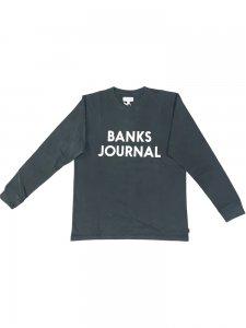 BANKS (バンクス) JOURNAL L/S TEE (プリント長袖TEE) DIRTY BLACK