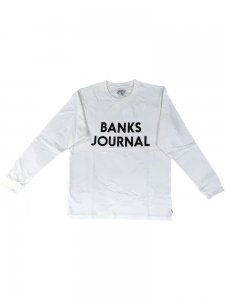 【40%OFF】BANKS (バンクス) JOURNAL L/S TEE (プリント長袖TEE) OFF WHITE