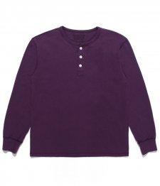 WACKO MARIA (ワコマリア) U.S.A COLOR HENRY NECK UNDER SHIRT (カラーヘンリーネックアンダーシャツ) PURPLE
