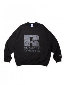 COOTIE (クーティー) T/C Crewneck Sweatshirt (ラッセルアスレティックスウェット) Coal Black×Clear