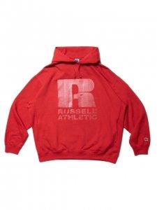 【残り1点】COOTIE (クーティー) T/C Pullover Parka(ラッセルアスレティックパーカー) Red×Clear