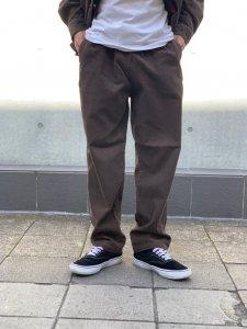 【残り1点】WAX (ワックス) Corduroy easy trousers (コーデュロイイージートラウザー) BROWN