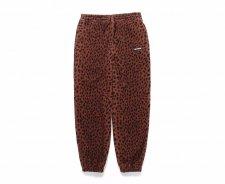 WACKO MARIA (ワコマリア) LEOPARD FLEECE SWEAT PANTS (レオパードフリーススエットパンツ) BROWN