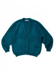COOTIE (クーティー) Mohair Cardigan (モヘアカーディガン) Turquoise