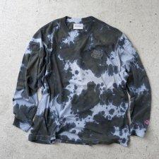 ANASOLULE (アナソルール) Nicetrip Tie-dye L/S Tee (タイダイ染め長袖TEE) Black
