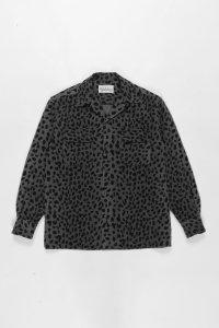 WACKO MARIA (ワコマリア) LEOPARD WOOL OPEN COLLAR SHIRT (レオパードウールオープンカラーシャツ) GRAY