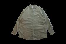 【残り1点】WAX (ワックス) Corduroy band collar shirts (コーデュロイバンドカラーシャツ) KHAKI