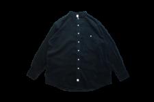 WAX (ワックス) Corduroy band collar shirts (コーデュロイバンドカラーシャツ) BLACK