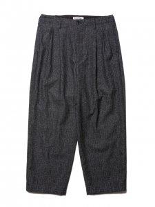 COOTIE (クーティー) Melange Wool 2 Tuck Trousers (ウールツータックトラウザー) Melange