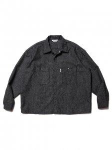 COOTIE (クーティー) Melange Wool Work Shirt (ウールワークシャツ) Melange