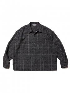 COOTIE (クーティー) Melange Wool Work Shirt (ウールワークシャツ) Melange Plaid