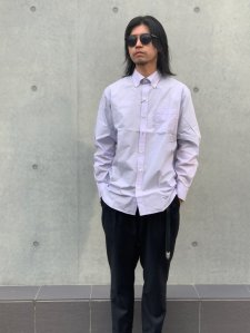 【残り1点】WACKO MARIA (ワコマリア) B.D DRESS SHIRT ( TYPE-2 )  (ボタンダウンドレスシャツ) PURPLE