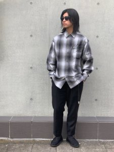 【20%OFF】Cal Top (カルトップ) OMBRE CHECK L/S SHIRTS(オンブレチェック長袖シャツ) GRAY