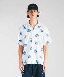 ROTTWEILER (ロットワイラー)ROSE S/S SHIRT(ローズ半袖シャツ) WHITE