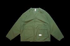 【40%OFF】WAX (ワックス) Back satin V jacket (バックサテンVジャケット) KAHKI