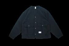 WAX (ワックス) Back satin V jacket (バックサテンVジャケット) BLACK