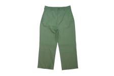 【21SS先行予約商品】WAX (ワックス) Back satin trousers (バックサテントラウザー) KAHKI