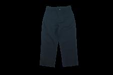 【21SS先行予約商品】WAX (ワックス) Back satin trousers (バックサテントラウザー) BLACK