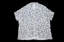 【21SS先行予約商品】WAX (ワックス) Animal open collar shirts (アニマルオープンカラーシャツ) WHITE