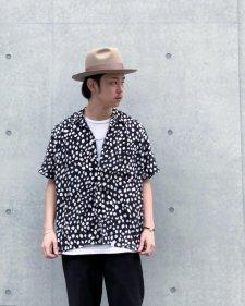 WAX (ワックス) Animal open collar shirts (アニマルオープンカラーシャツ) BLACK