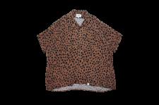 【21SS先行予約商品】WAX (ワックス) Animal open collar shirts (アニマルオープンカラーシャツ) BROWN