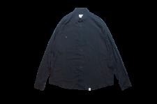 【21SS先行予約商品】WAX (ワックス) Design L/S shirts (長袖シャツ) BLACK