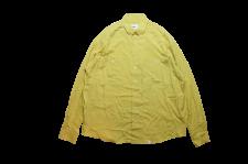 【21SS先行予約商品】WAX (ワックス) Design L/S shirts (長袖シャツ) MUSTARD
