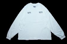 【21SS先行予約商品】WAX (ワックス) SHADOW PLAY L/S tee(長袖カットソー) WHITE