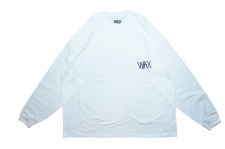 WAX (ワックス) Wide body L/S tee(長袖カットソー) WHITE