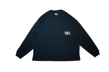 WAX (ワックス) Wide body L/S tee(長袖カットソー) BLACK