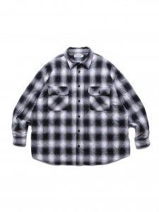 【残り1点】COOTIE (クーティー) Ombre Check Quilting CPO Jacket(オンブレチェックキルティングCPOジャケット) Black×Off White